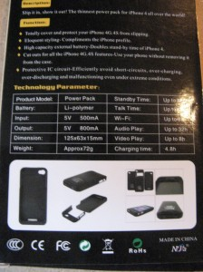 2000mAh Portable Power Bank Slim External Battery Back Battery Case for Apple iPhone 4/ 4s. Обзор на InSKU.com