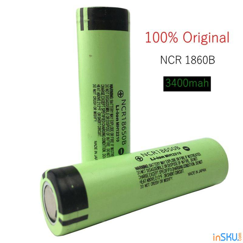 52588bbfc454 Аккумуляторы 18650 Panasonic NCR18650B на 3400 мAh с Алиэкспресс ...