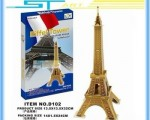 3D puzzle paper craft Eiffel Tower DIY – Сборная модель Эйфелевой башни для детей