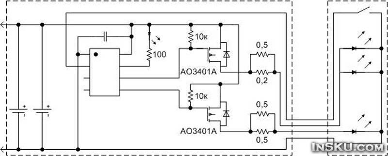 Налобные фонари на аккумуляторах 18650 схема