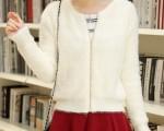 Женская трикотажная кофта из ворсовой ткани из магазина Moiamoda.com